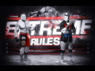 Brock Lesnar vs John Cena - Extreme Rules 2012