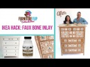 Furniture Flip Ikea Hack Edition DIY Faux Bone Inlay Dresser Knockoff