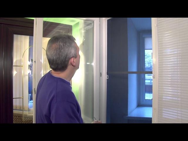 Регулировка фурнитуры пластиковых окно от специалиста компании Московские окна