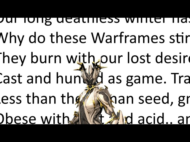 Warframe: Valkyr Prime Trailer but its all in text to speech