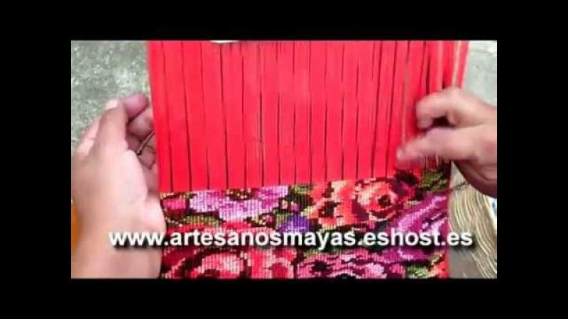Elaboracion de Guipiles, trajes tipicos, manteles 6- Artesanos MAYAS