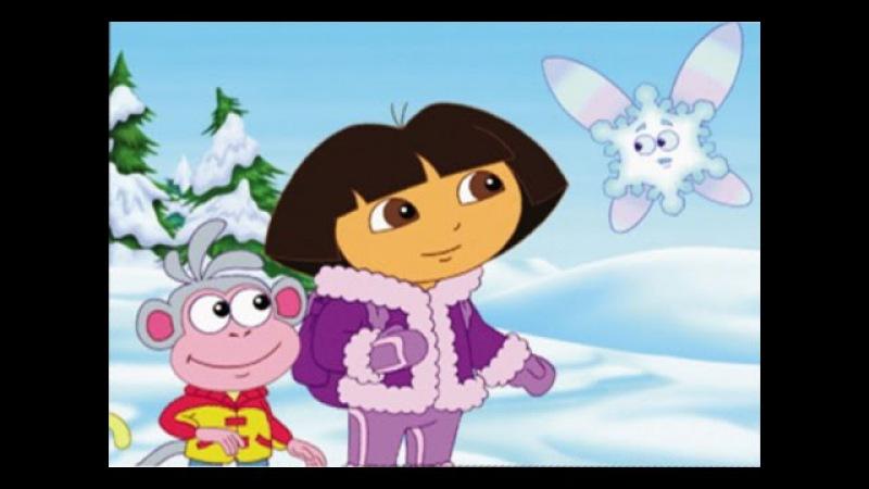 Даша путешественница и Диего мультфильм на русском Все серии-Даша и Первый снег.