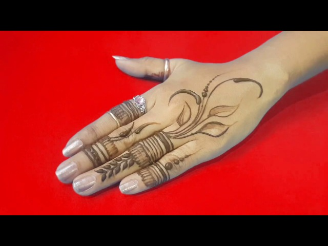 Most simplest mehndi or henna design ll Step by step tutorial