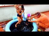 НАДУВНОЙ БАССЕЙН с КОКА КОЛА ЧЕЛЛЕНДЖ Игры для Детей Pool Challenge Coca Cola + Mentos Freak