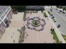 В городе Клинцы около фонтана «Вальс дождя» расцвела огромная ромашка
