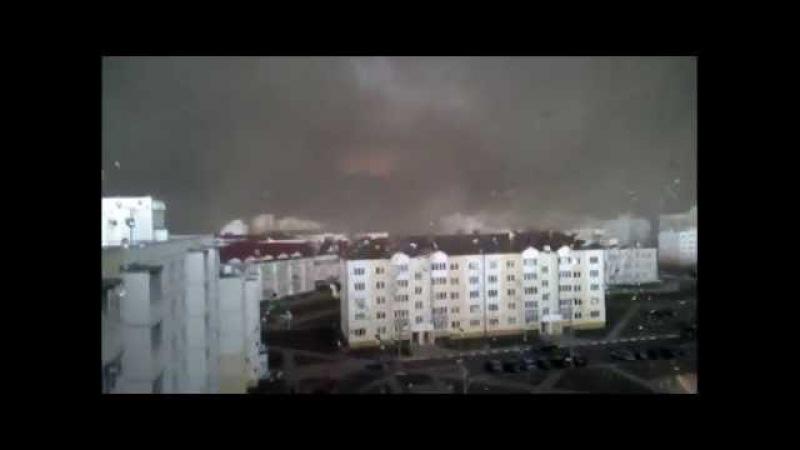 Жесть ! Буря в Солигорске просто нереальный ужас день стал ночью.