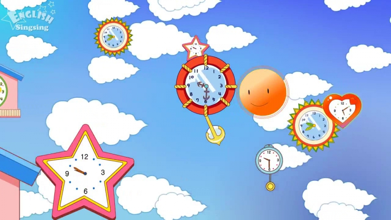Theme 2. Time - What time is it- - ESL Song Story - Learning English for Kids