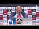 Zidane- Nous devons continuer avec notre idée et renverser la situation