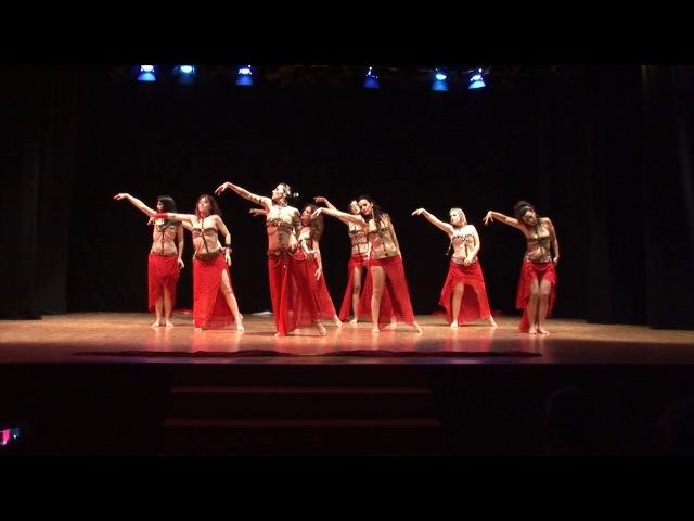 Eva Sampedro´s Oriental Ballet - Fusion with Fan Veils (Renaissance)(21-05-2017)(Zaragoza, Spain)