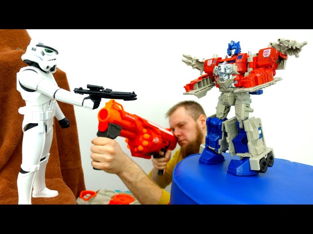 Мультики для мальчиков. Трансформеры и Стар Варс: Автоботы против Дарт Вейдера!