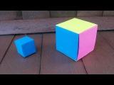 Поделки Из Бумаги| Простые Оригами Куб в Школу и Коробочка Своими Руками Для Дет ...