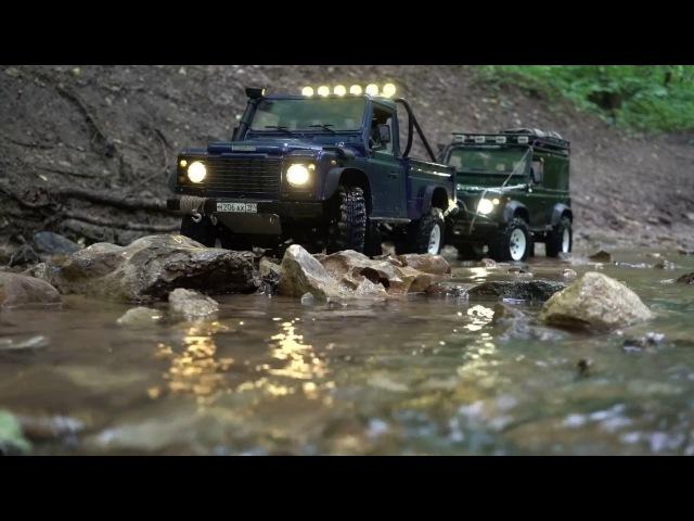 Rc Land Rover defender 90 WildBrit feat Defender 110 HCPU