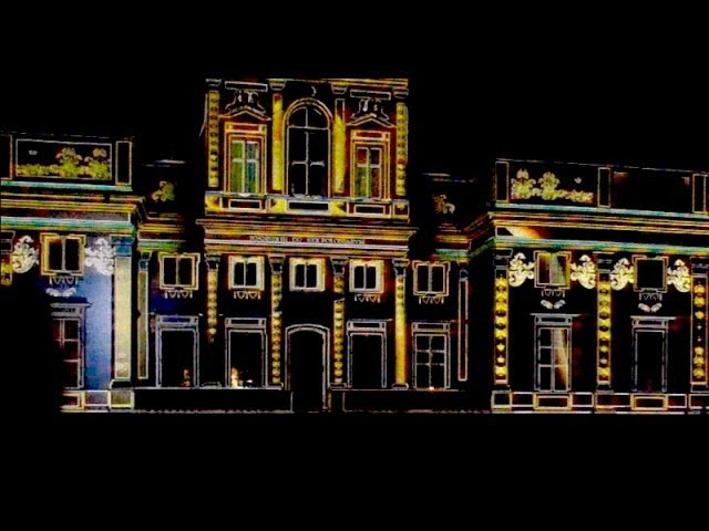 3D projection mapping on building - Wilanów Palace, Warsaw 2014