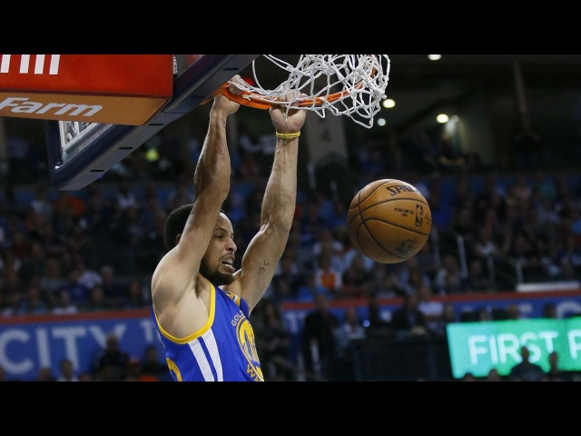 Stephen Curry Dunks Then Hits The Dab!