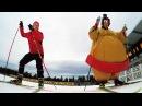 Sumo skiing Klæbo vs Ramm