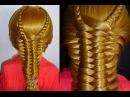 Лёгкая коса.Причёска для средних/длинных волос.Причёски в школу/на каждый день/н...