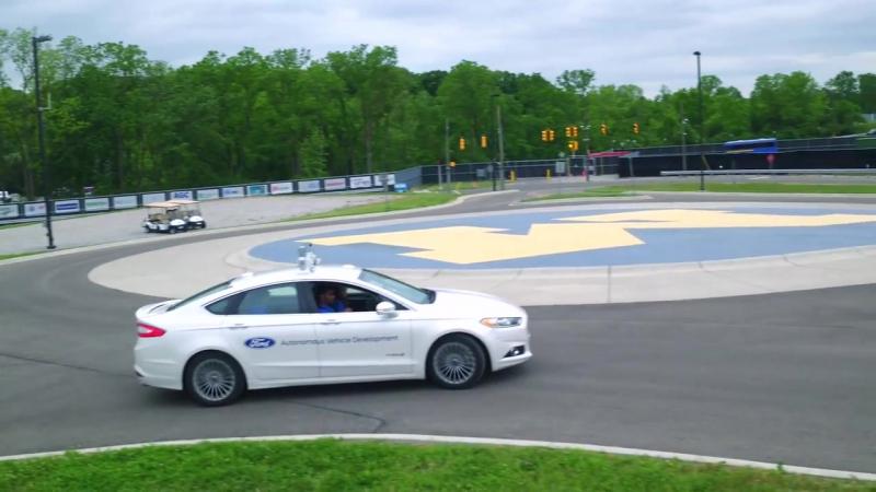 Тест беспилотного Ford