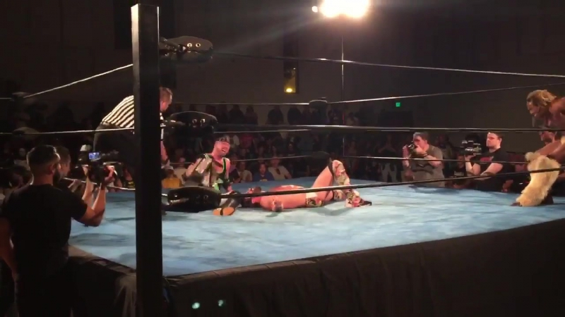 X-Pac pins Joey Ryan to win the DDT Pro Wrestling Ironman Heavymetalweight (24_7 Rule) Title