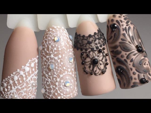 Дизайн ногтей. Кружева