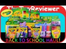 2016 Crayola Back to School Haul HUGE Crayons Markers Pencils Unboxing Toy Review by TheToyReviewer