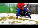 покатушка на скутере зимой дрифт и стант