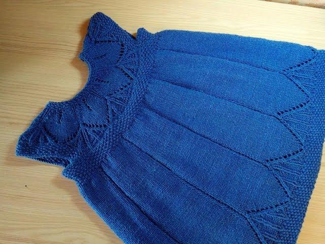 Платье с ажурной кокеткой спицами CLARA DRESS PATTERN МК для начинающих 1ч