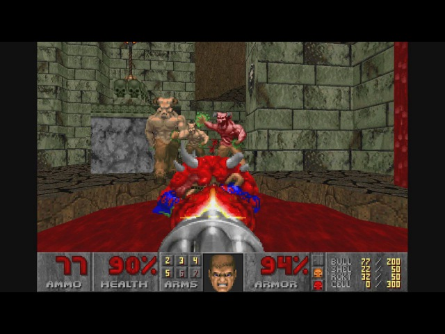 Doom II: No rest for the living. Hell Mountain (4 lvl)