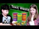 Реакции детей на самые кислые в мире конфеты Toxic Waste