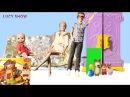 Bad baby kids детки Маша и Катя смотрят мультфильм Люси Маша и Медведь игрушки куклы мама Барби