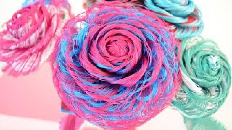 Como hacer una rosa de tela de dos colores Rosa Loveluzlop Fabric Flowers Roses - Loveluzlop