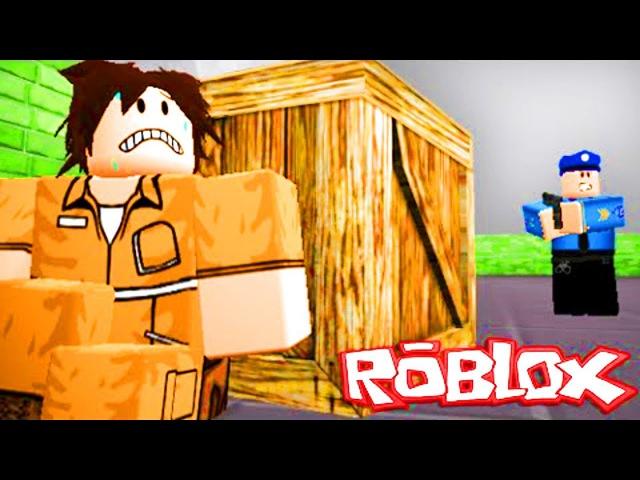 ПОБЕГ ИЗ ТЮРЬМЫ в ROBLOX Полиция нас преследует приключение мульт героя в игре робл...