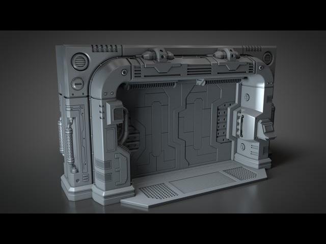 Modeling a Scifi Blast Door - Outer Frame - 007 Outer Frame Part F