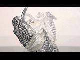 Silver Penguins Faberge style Trinket Box by Keren Kopal Swarovski Crystal