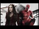 Scarlet Witch and Spider Man Wanda and Peter Live like legends