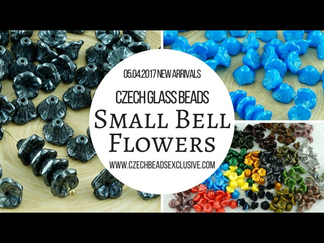 CZECH GLASS BEADS: Small Bell Flower Beads - New Arrivals 05.04.2017