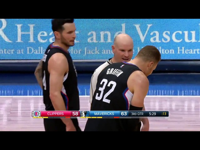 JJ Barea Takes Down Blake Griffin And Gets Ejected | Clippers vs Mavericks Fight