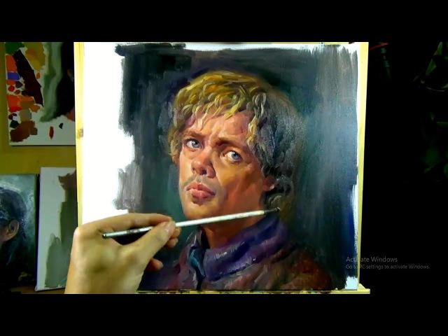 Art Painting Workshop - Painting Peter Dinklage's Portrait in Oil paint