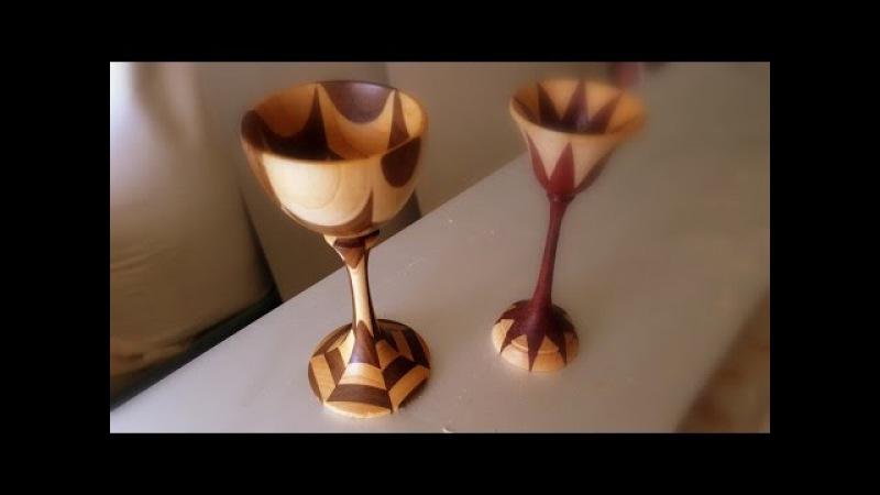 Turning an Hexagonal Segmented mini Goblet - Woodturning by Eli Avisera