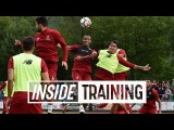 Inside Training Entertaining headers-only match featuring the entire Liverpool squad