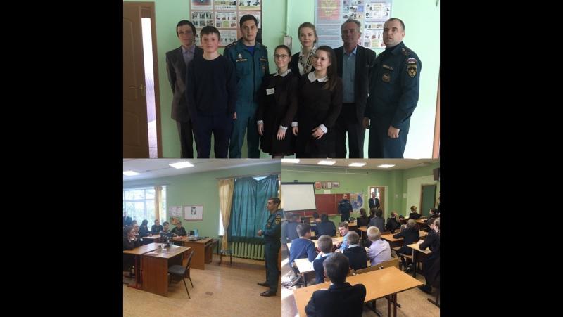 Учебная эвакуация в Леонтьевской СОШ.