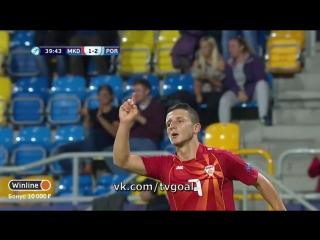Чeмпиoнaт Eвpoпы U-21. Macedonia 1:2 Portugal | Бapди