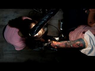 X-men tattoo sleeve in process