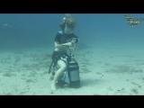 Scuba-Fetisch Unterwasser-Striptease