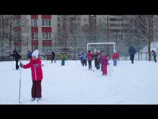 лыжная гонка на уроке физической культуры 2 Б