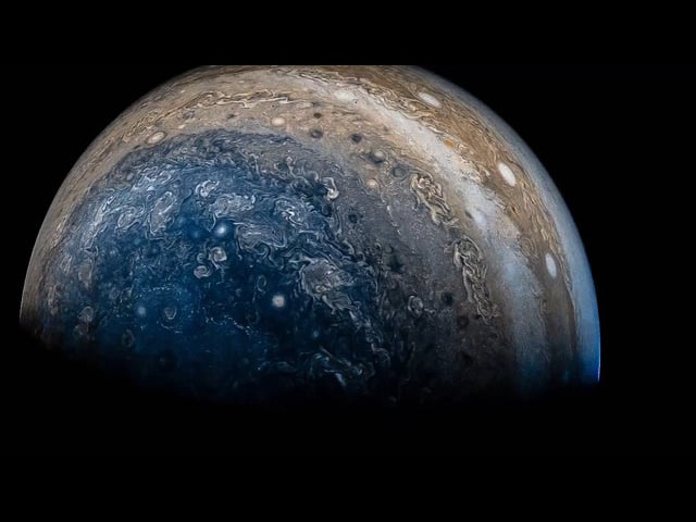 Latest view of Jupiter from NASAs Juno spacecraft