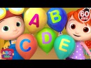 ABC Song with Balloons | More Nursery Rhymes Kids Songs - ABCkidTV