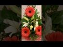 Красивый букет из гербер и лилии