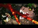 ANIMATED - Jurassic World T-rex Vs Raptor!