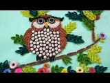 How To Make Beautiful Owl Sitting On Tree  Wall Decorations  Paper Quilling Art