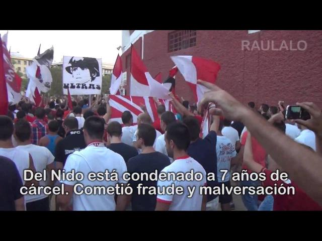 Protesta contra Del Nido Eres un Calvo Cabrón Biris Norte Sevilla FC vs. Getafe CF